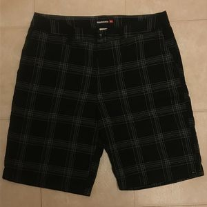 Quiksilver Men's Checkered Black Shorts Size 34